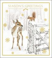 Pack of 5 Winter Woodland Samaritans Charity Christmas Cards