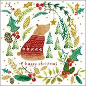 Pack of 5 Forest Bear British Heart Foundation Charity Christmas Cards