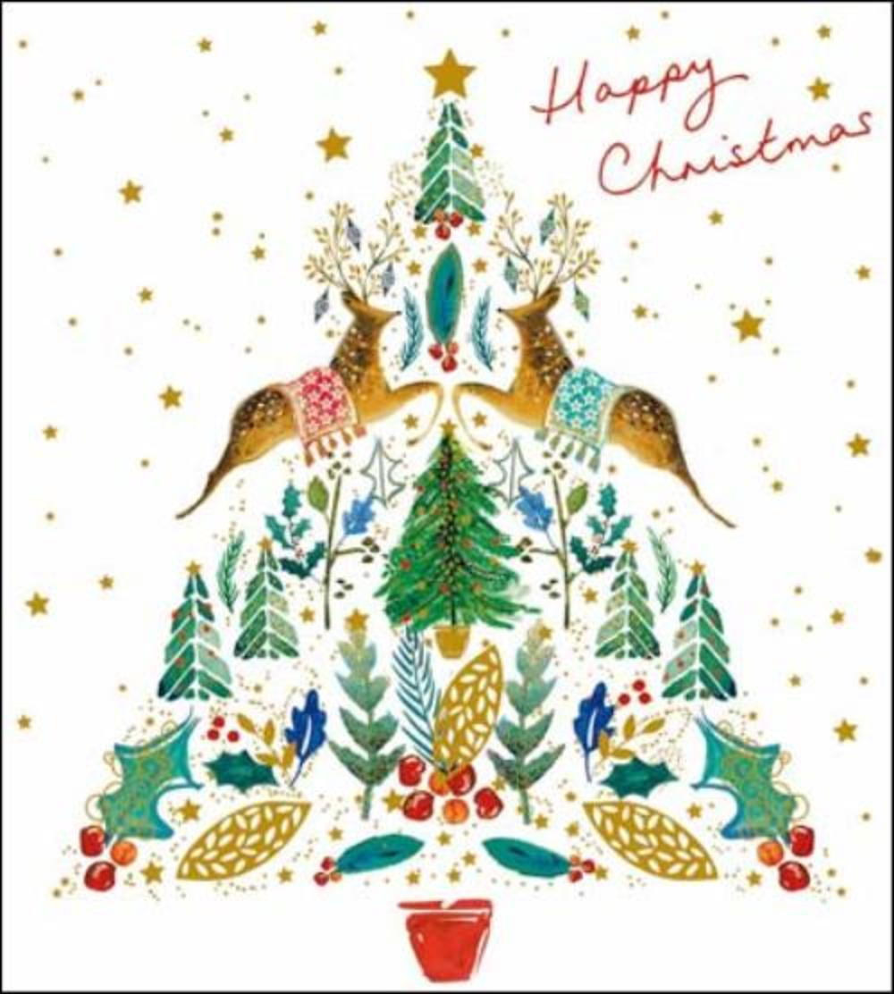 Pack of 5 Happy Christmas Marie Curie Charity Christmas Cards