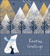 Pack of 5 Festive Greetings Marie Curie Charity Christmas Cards