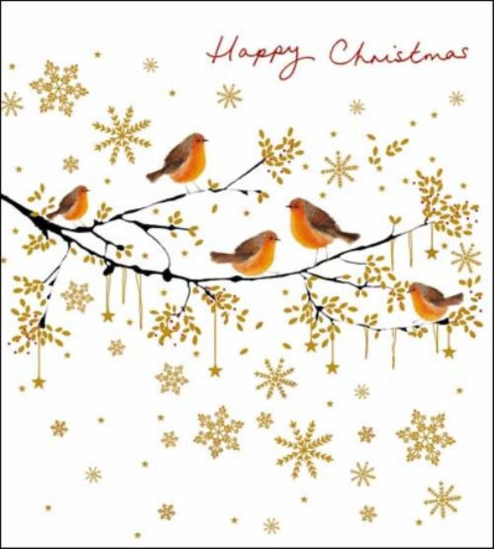 Pack of 5 Winter Song Alzheimer's Society Charity Christmas Cards