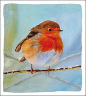 Pack of 5 Red Robin Alzheimer's Society Charity Christmas Cards
