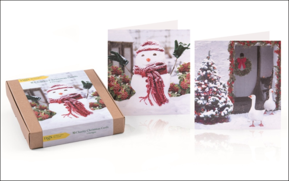 Box of 10 Assorted National Garden Scheme Charity Christmas Cards