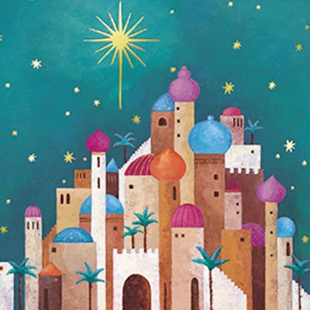 Pack of 8 Mini Bethlehem Stroke Association Charity Christmas Cards
