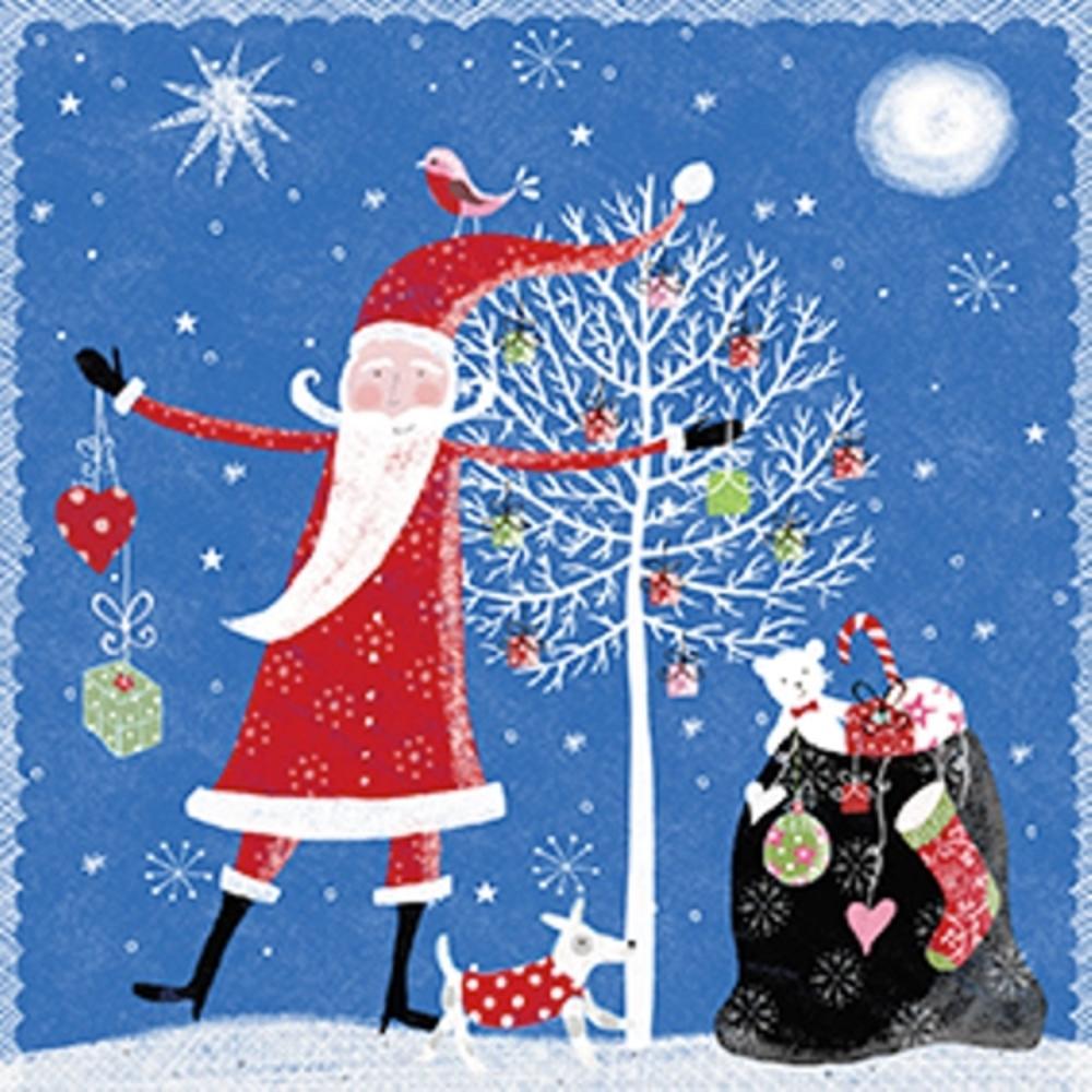 Pack of 8 Mini Santa British Heart Foundation Charity Christmas Cards