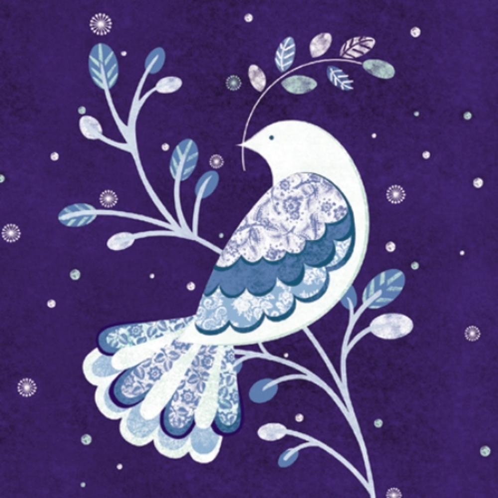 Pack of 8 Blue Dove Multiple Sclerosis Fairdeal Charity Christmas Cards
