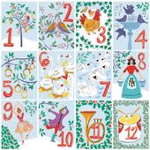 Pack of 8 Twelve Days Woodland Trust Fairdeal Charity Christmas Cards