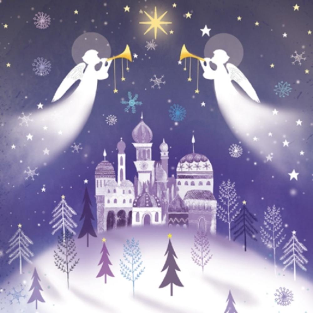 Christmas Angels.Pack Of 8 Christmas Angels Shelter Fairdeal Charity Christmas Cards