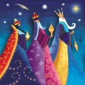 Pack of 8 We Three Kings Stroke Fairdeal Charity Christmas Cards