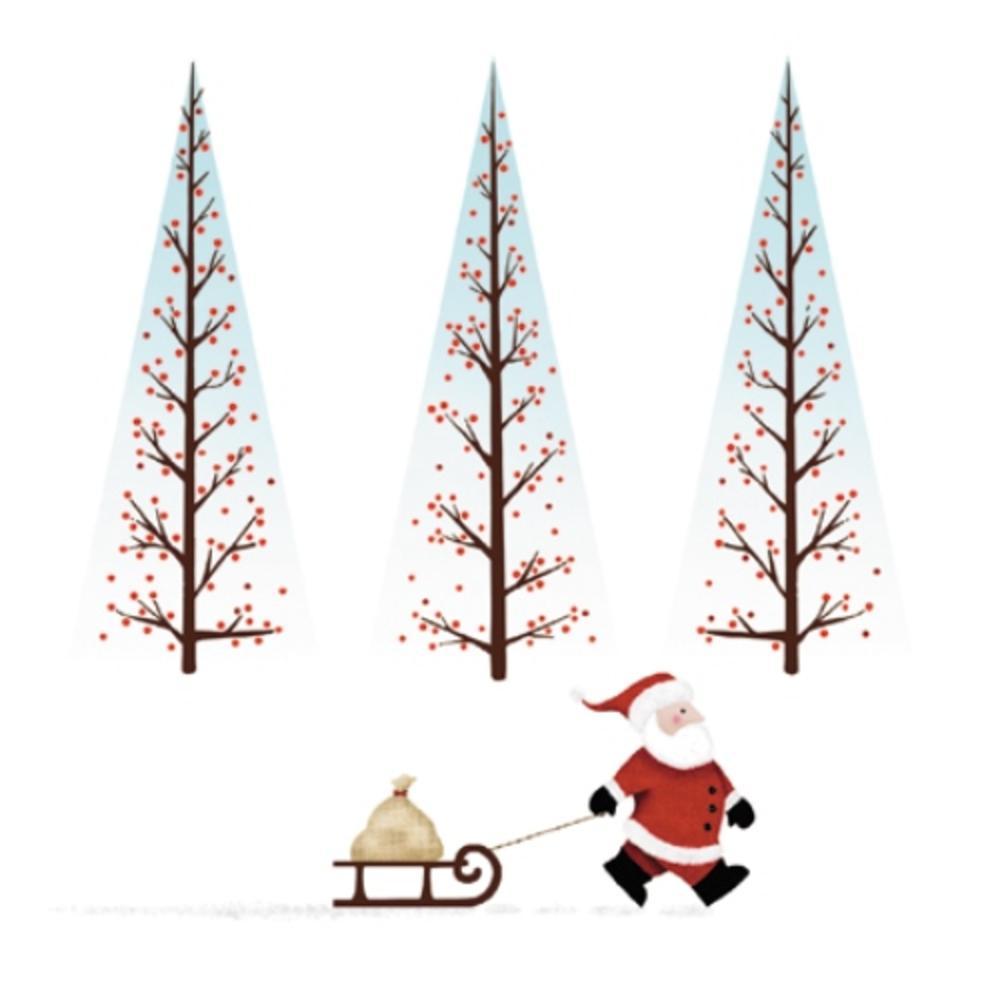 Pack of 8 Santa's Sleigh Multiple Sclerosis Fairdeal Charity Christmas Cards