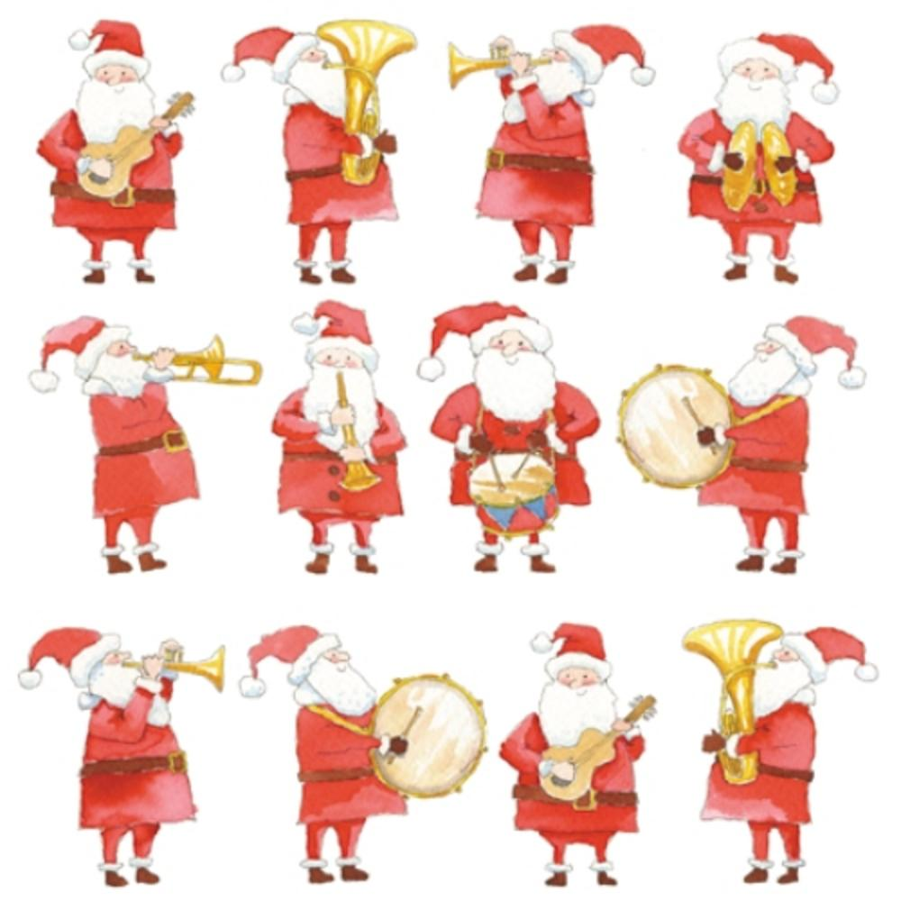 Pack of 8 Santa's Band British Heart Foundation Fairdeal Charity Christmas Cards