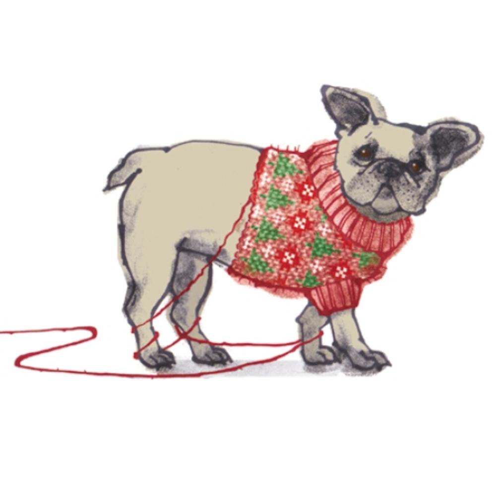 Pack of 8 Dog In Jumper Multiple Sclerosis Fairdeal Charity Christmas Cards