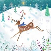 Pack of 8 Deer National Autistic Society Fairdeal Charity Christmas Cards
