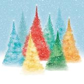 Pack of 8 Fir Trees Epilepsy Action Fairdeal Charity Christmas Cards
