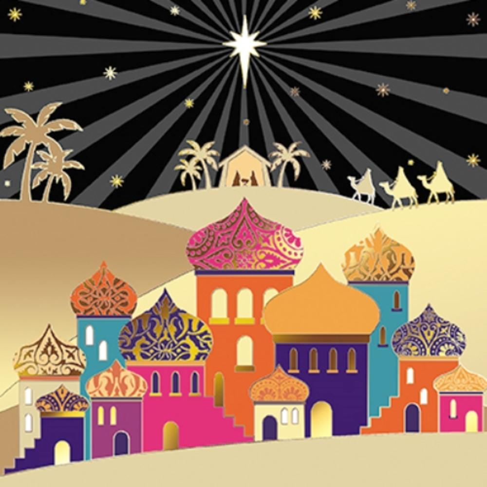 Pack of 6 Bethlehem Charity Christmas Cards Supports Multiple Charities