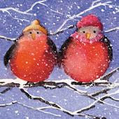 Pack of 6 Robins In Hats Charity Christmas Cards Supports Multiple Charities