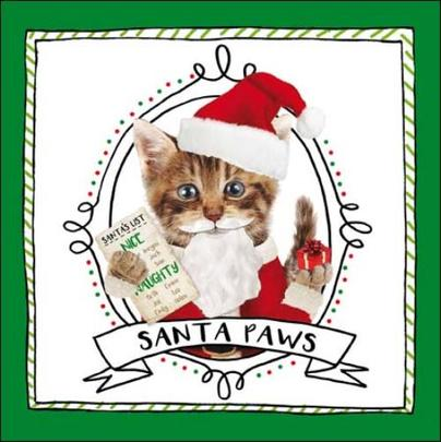 Santa Paws Christmas Greeting Card
