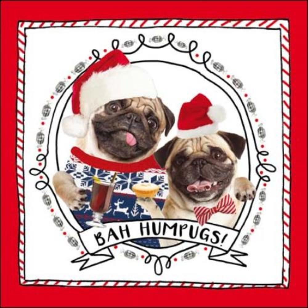 Bah Humpugs Christmas Greeting Card