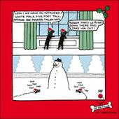 Snowman Intruder Funny Off The Leash Cartoon Dog Humour Christmas Card