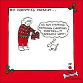 Christmas Jumper Funny Off The Leash Cartoon Dog Humour Christmas Card