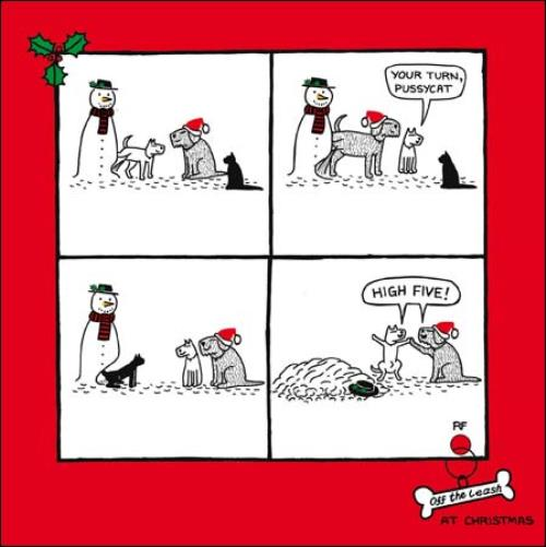 dog vs cat funny off the leash cartoon dog humour