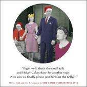 Turn On The Telly Funny Christmas Greeting Card