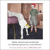 Gym Membership Funny Christmas Greeting Card