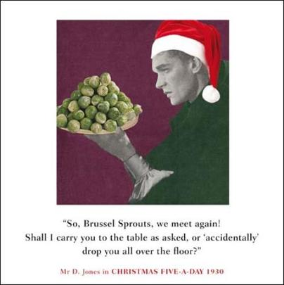So, Brussel Sprouts Funny Christmas Greeting Card