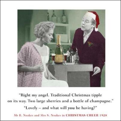 Christmas Tipple Funny Christmas Greeting Card
