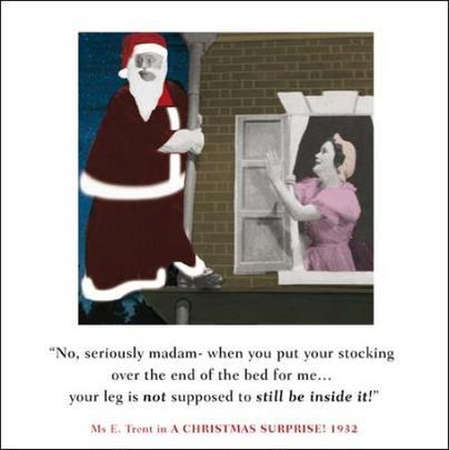 Christmas Stocking Madam Funny Christmas Greeting Card
