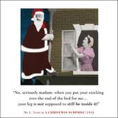 Christmas Stocking Madam Funny Christmas Greeting Card
