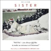 Fab Sister Funny Christmas Greeting Card