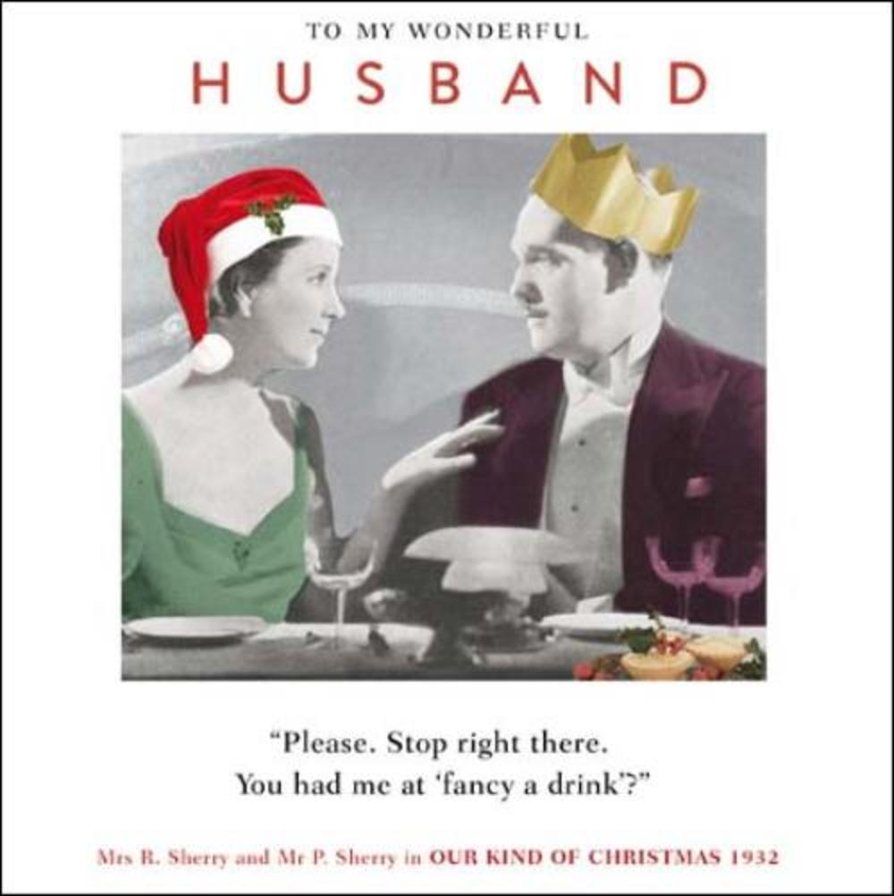 Wonderful Husband Funny Christmas Greeting Card