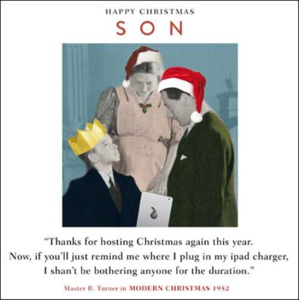 Son Funny Christmas Greeting Card