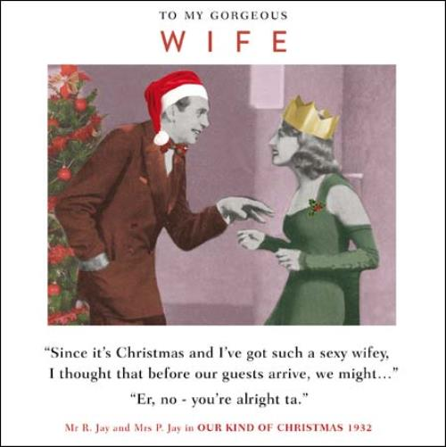 Merry Christmas Wishes Funny.Gorgeous Wife Funny Christmas Greeting Card