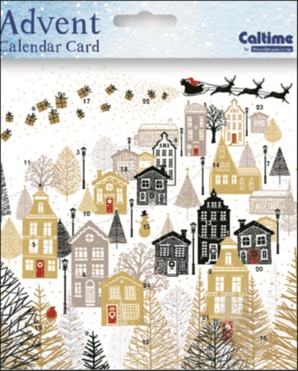 Silent Night Advent Calendar Christmas Card