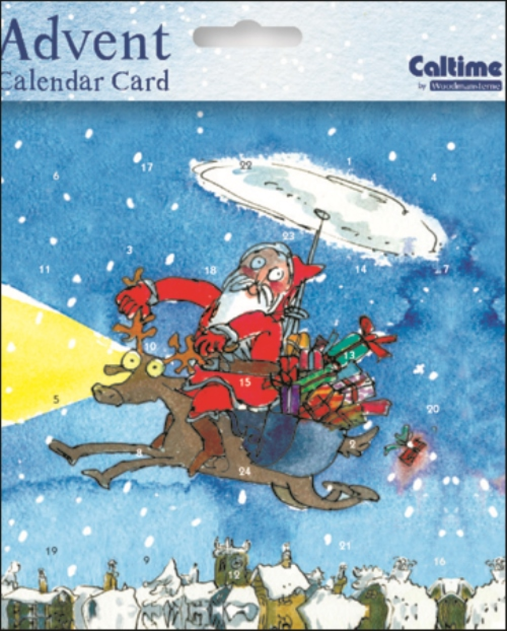 Quentin Blake Advent Calendar Christmas Card