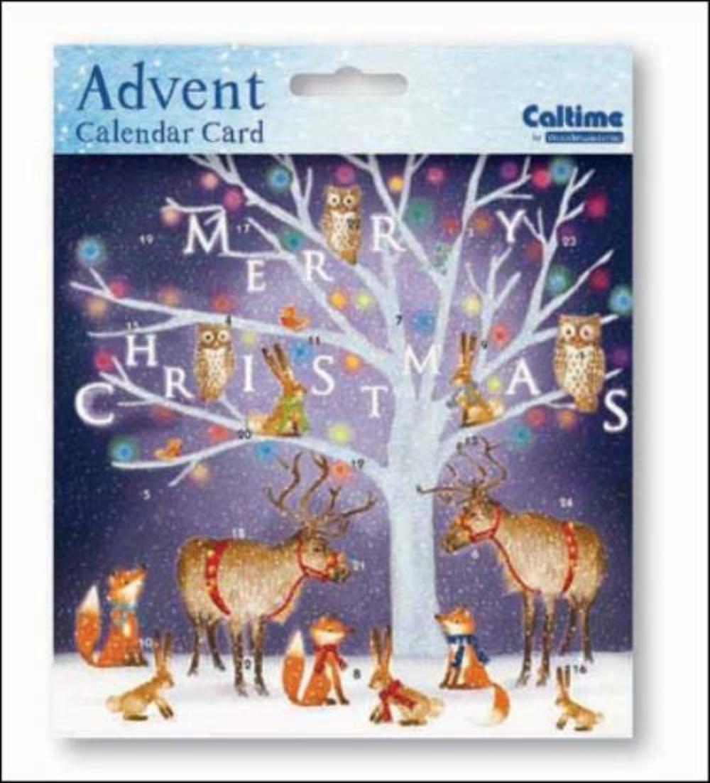 Enchanted Tree Advent Calendar Christmas Card