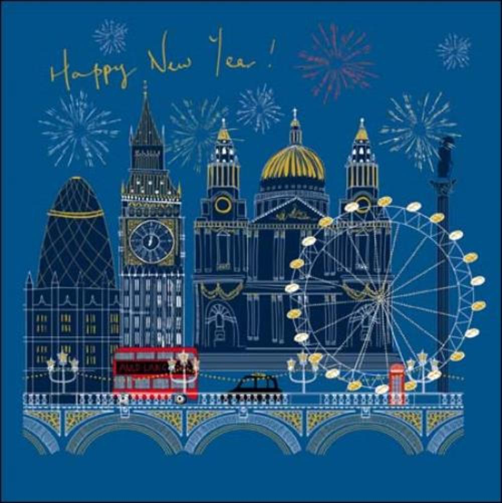 Happy New Year London Christmas Card