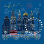 Happy New Year London Christmas Card