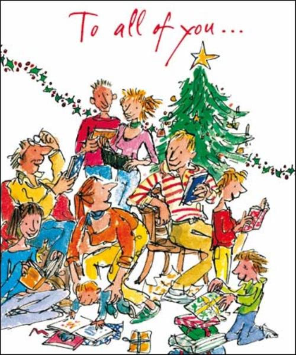 To All Of You Quentin Blake Christmas Greeting Card