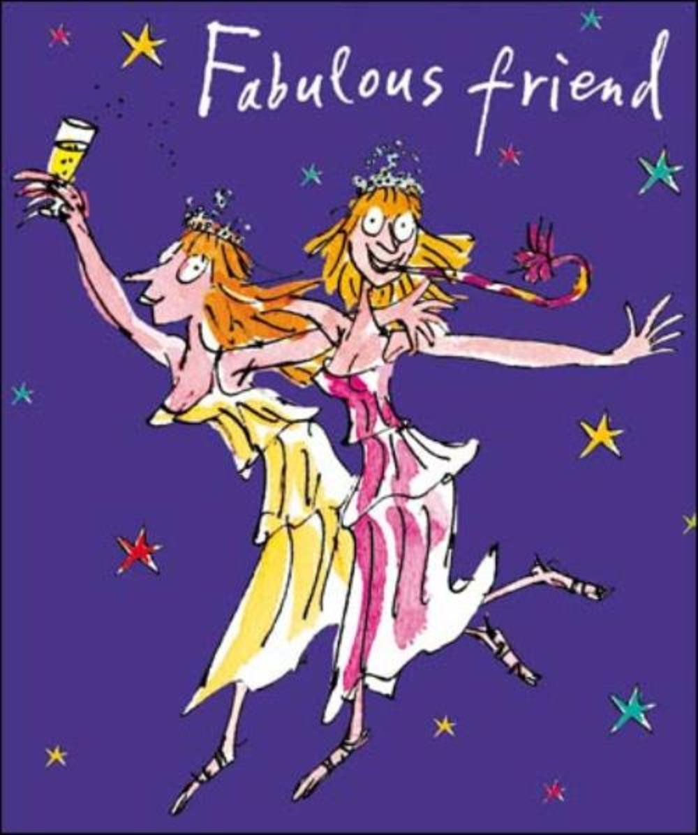 Fabulous Friend Quentin Blake Christmas Greeting Card