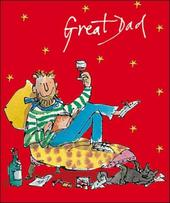 Great Dad Quentin Blake Christmas Greeting Card