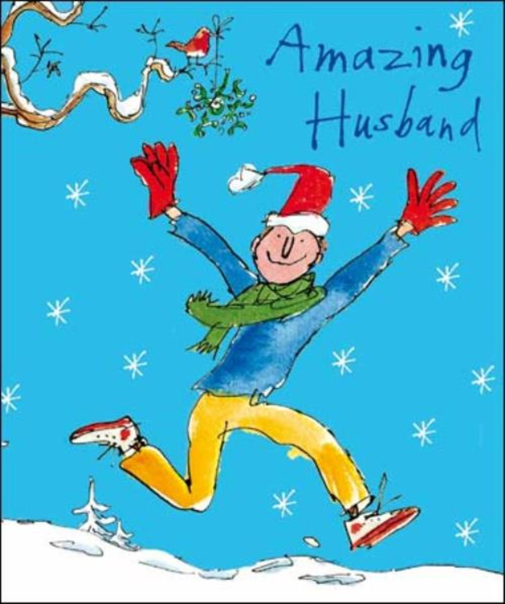 Amazing Husband Quentin Blake Christmas Greeting Card