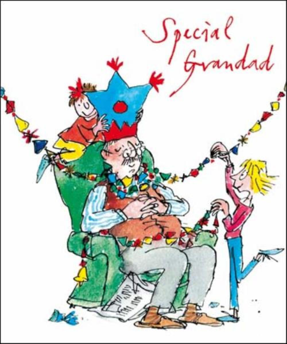 Special Grandad Quentin Blake Christmas Greeting Card