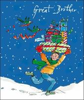 Great Brother Quentin Blake Christmas Greeting Card