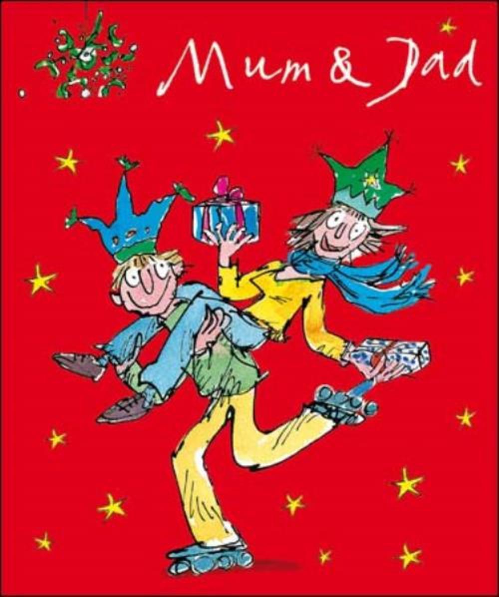 Mum & Dad Quentin Blake Christmas Greeting Card