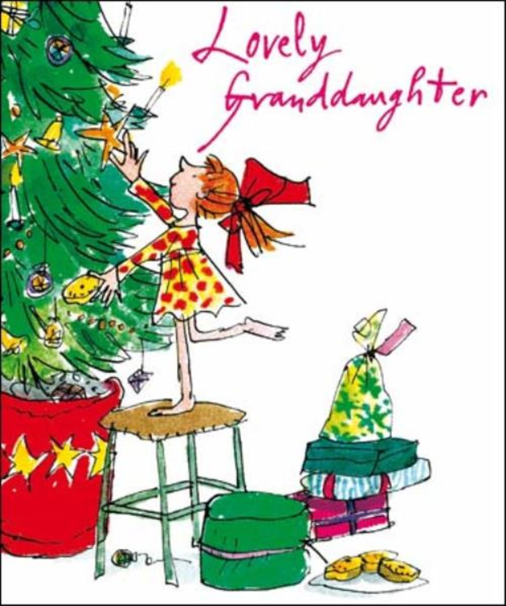 Lovely Granddaughter Quentin Blake Christmas Greeting Card