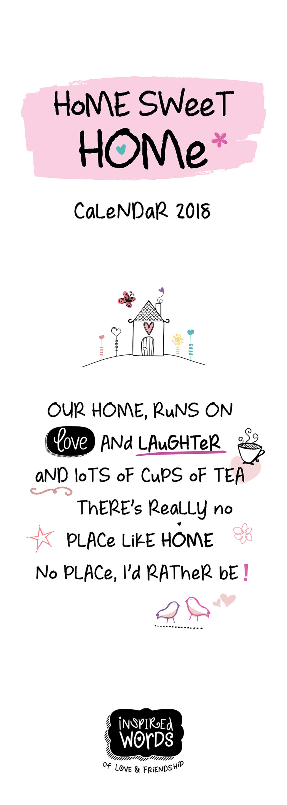2018 Inspired Words Home Sweet Home Calendar