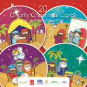 Box of 20 Charity Christmas Cards Supports Multiple Charities 4 Designs